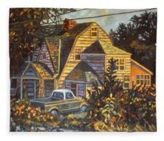 House In Christiansburg Fleece Blanket