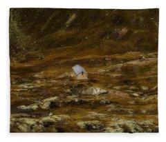 House In The Valley Fleece Blanket