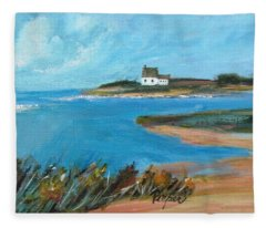 House On The Point Fleece Blanket