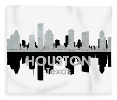 Houston Tx 4 Fleece Blanket