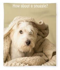 How About A Snuggle Card Fleece Blanket