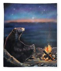 How Grandfather Bear Created The Stars Fleece Blanket