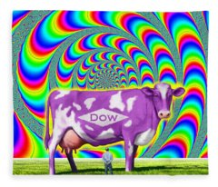 How Now Dow Cow? Fleece Blanket