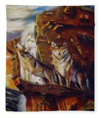 Howling For The Nightlife  Fleece Blanket