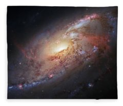 Hubble View Of M 106 Fleece Blanket