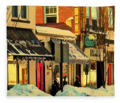 Hues On The Rue Fleece Blanket