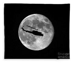 Huey Moon Fleece Blanket