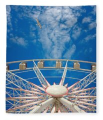 Huge Ferris Wheel Fleece Blanket