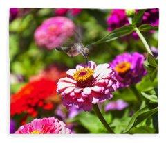 Hummingbird Flight Fleece Blanket