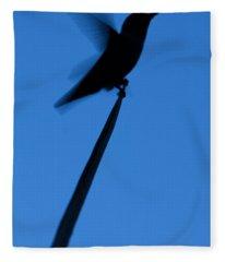 Hummingbird Silhouette Fleece Blanket