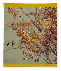 Hummingbirds On Yellow Tree Fleece Blanket