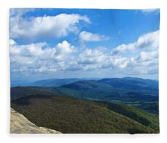 Humpback Rocks View North Fleece Blanket