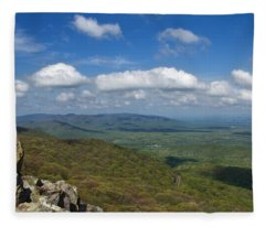 Humpback Rocks View South Fleece Blanket