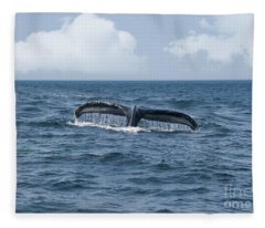 Humpback Whale Fin Fleece Blanket
