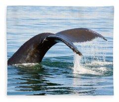 Humpback Whale Fluke. Fleece Blanket