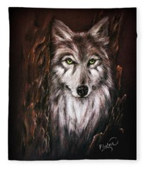 Hunter In The Night Fleece Blanket