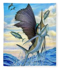 Hunting Of Small Tunas Fleece Blanket