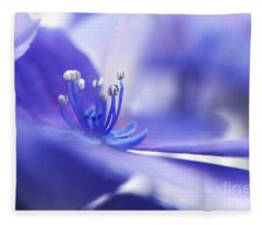 Hydrangea Closeup Fleece Blanket
