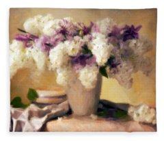 Hydrangea Summer Display Fleece Blanket