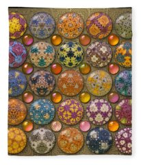 Hyperbolicrochet Kaleidoscope Quilt Fleece Blanket