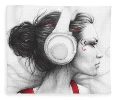 I Love Music Fleece Blanket