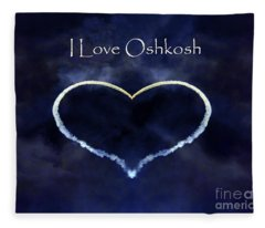 I Love Oshkosh. Aerobatic Flight Photo. Fleece Blanket