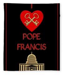 I Love Pope Francis Fleece Blanket