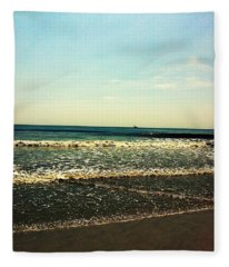 I Love The Beach Fleece Blanket