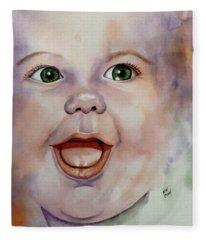 I Love You Baby Fleece Blanket