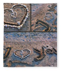 I Love You - Hearts For Valentine's Day Fleece Blanket