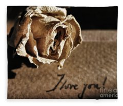 I Love You Letter Fleece Blanket