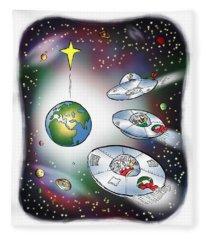 We Three Spacemen Fleece Blanket