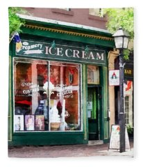 Alexandria Va - Ice Cream Parlor Fleece Blanket