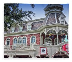 Ice Cream Parlor Main Street Walt Disney World Fleece Blanket