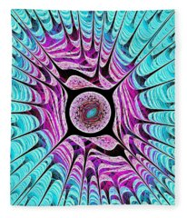 Ice Dragon Eye Fleece Blanket