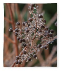 Ice On Berries Fleece Blanket