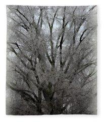 Ice Sculpture Fleece Blanket