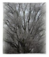 Ice Sculpture Fleece Blanket