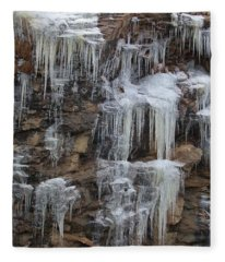 Icicle Cliffs Fleece Blanket