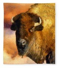 Icon Of The Plains Fleece Blanket
