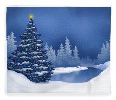 Icy Blue Fleece Blanket