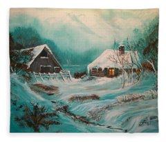 Icy Twilight Fleece Blanket