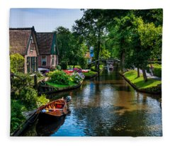 Idyllic Village 15. Venice Of The North Fleece Blanket