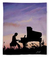 Piano Paintings Fleece Blankets