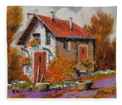 Il Prato Viola Fleece Blanket