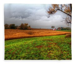 Illinois Farmland I Fleece Blanket