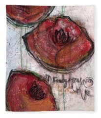 Im Ready For Your Love Poppies Fleece Blanket