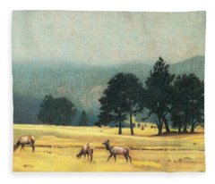 Impression Evergreen Colorado Fleece Blanket