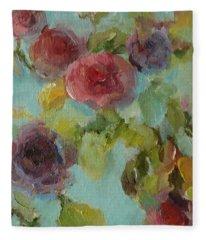 Impressionist Floral  Fleece Blanket