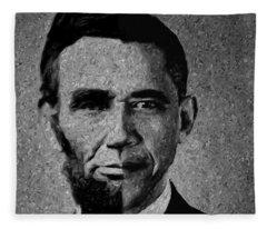 Impressionist Interpretation Of Lincoln Becoming Obama Fleece Blanket